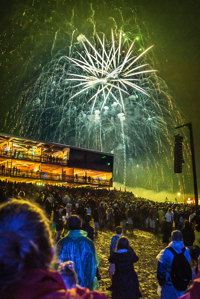 Fireworks closing the 40th edition of Paleo Festival
