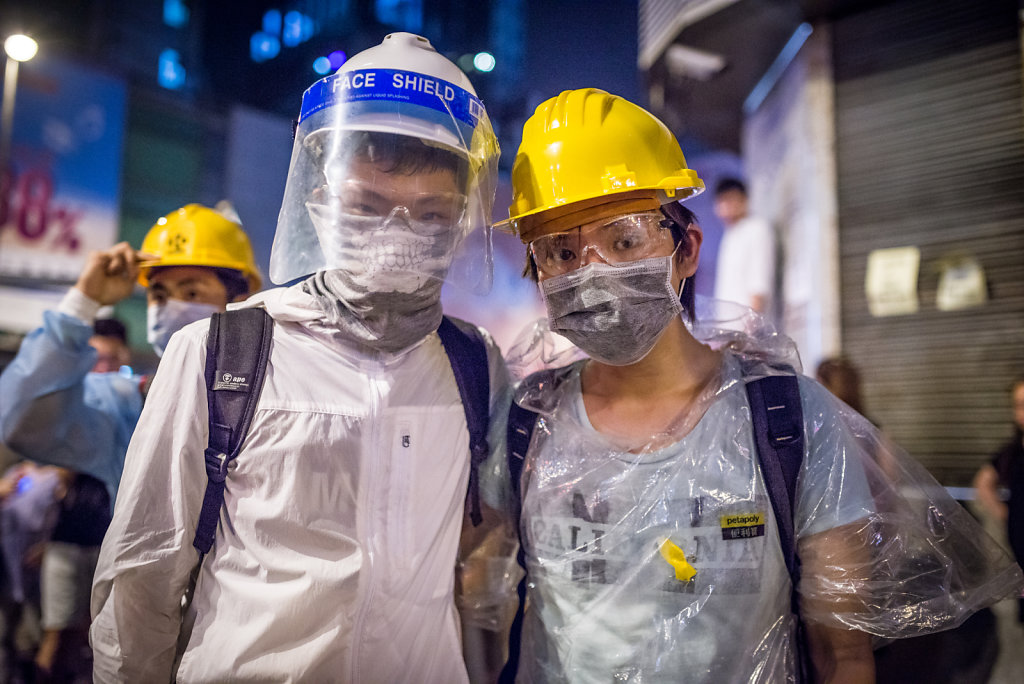 Protesters at Occupy Central