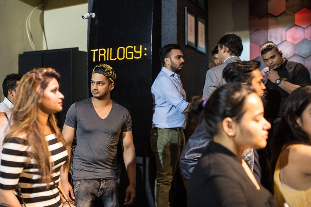 Outside Trilogy Nightclub.