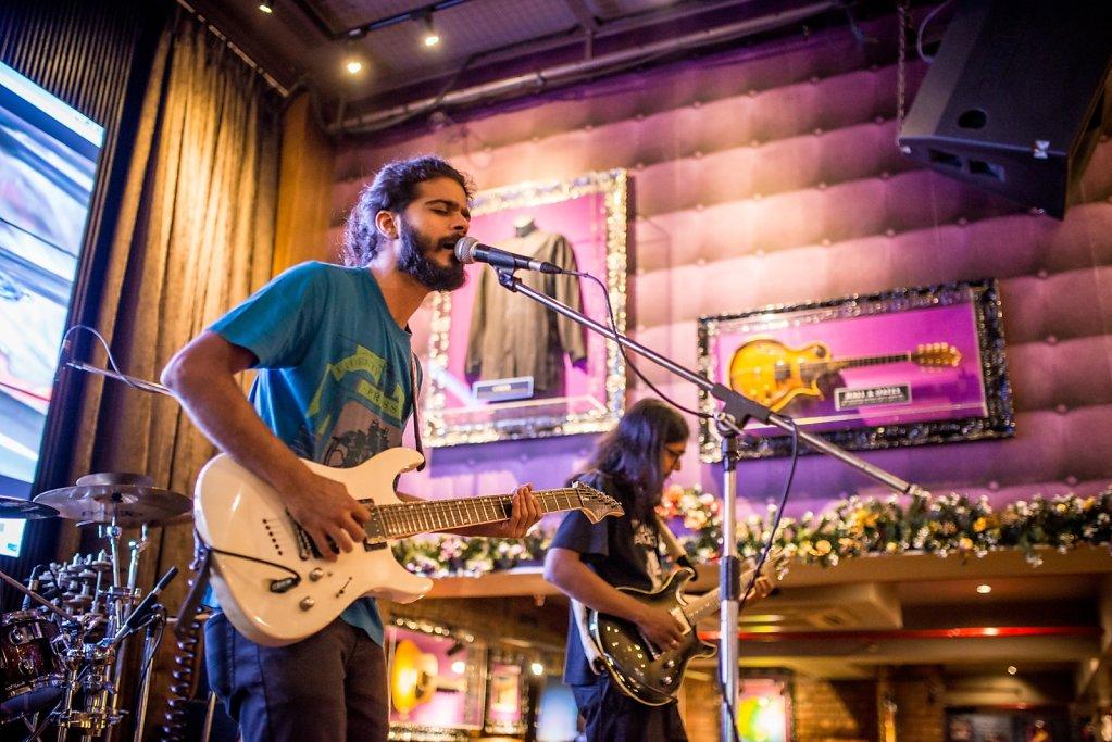 Coshish, during soundcheck at Hard Rock Cafe Andheri