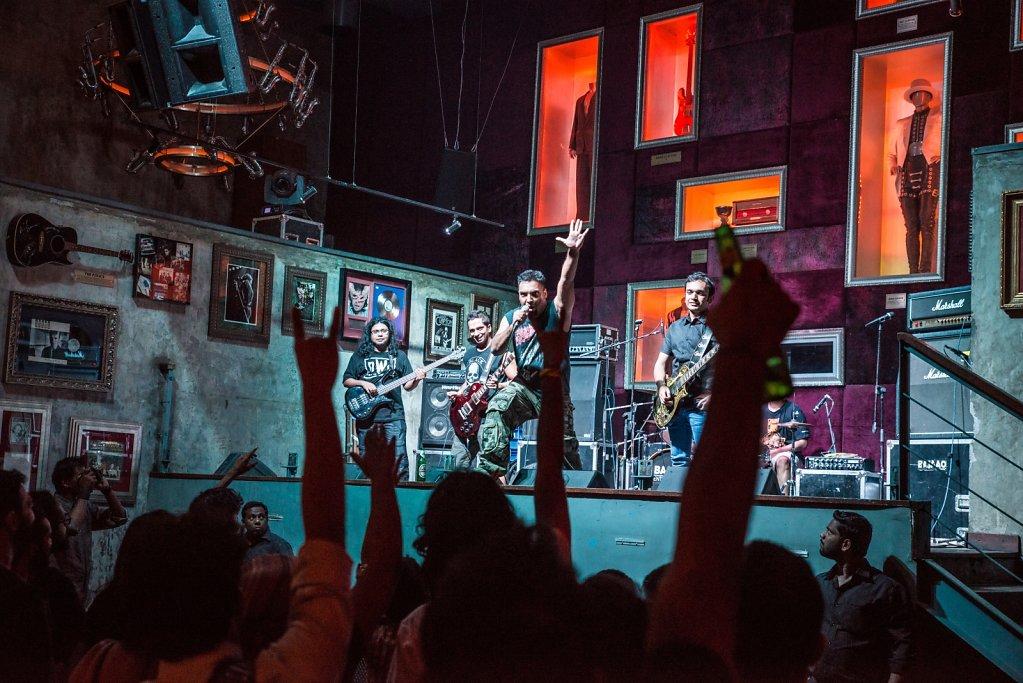 PRIMITIV during their show at Hard Rock Cafe Worli.